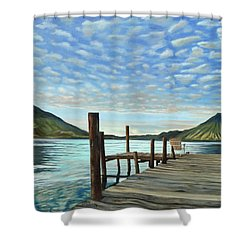 Sunrise At The Water Shower Curtain