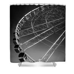 Sunrise At The Wheel In Black And White Shower Curtain by Greg Mimbs
