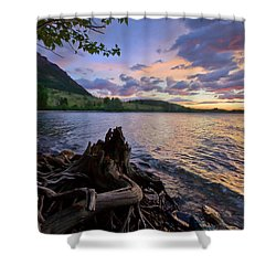 Sunrise At Waterton Lakes Shower Curtain by Dan Jurak