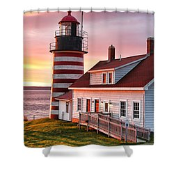West Quoddy Head Lighthouse 3747 Shower Curtain