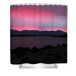 Sunrise At Yuba Lake Shower Curtain by Dan Pearce