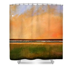 Sunrise Beach Shower Curtain by Toni Grote