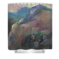 Sunrise Shower Curtain by Becky Kim