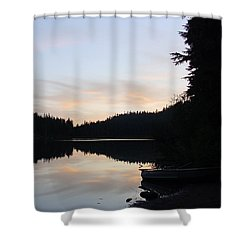 Sunrise Boat  Shower Curtain