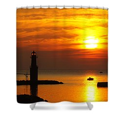 Sunrise Brushstrokes Shower Curtain by Bill Pevlor