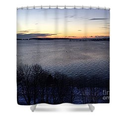 Sunrise Casco Bay January 21, 2016  Shower Curtain