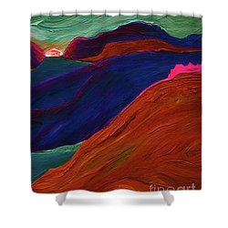 Shower Curtain featuring the painting Sunrise Castle 2  by First Star Art