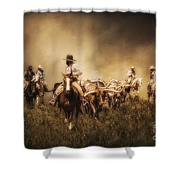 Sunrise Cattle Drive Shower Curtain