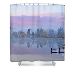 Sunrise Comes To Stoneledge Lake Shower Curtain