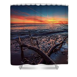 Sunrise Crossing  Shower Curtain