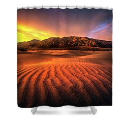 Sunrise-death Valley Shower Curtain