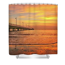 Sunrise Delight On The Beach At Shorncliffe Shower Curtain