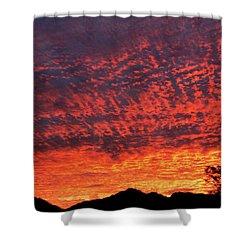 Sunrise Eruption Shower Curtain by Mark Blauhoefer