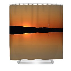 Shower Curtain featuring the photograph Sunrise Flight  by Lyle Crump