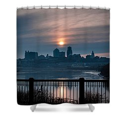 Sunrise From Kaw Point Shower Curtain