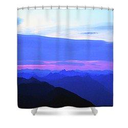 Sunrise From Pilchuck Summit Shower Curtain