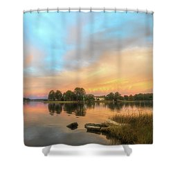 Shower Curtain featuring the photograph Sunrise, From The West by Cindy Lark Hartman