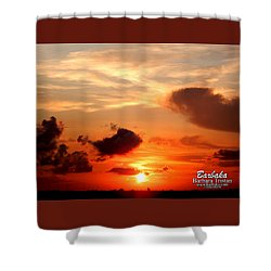 Shower Curtain featuring the photograph Sunrise In Ammannsville Texas by Barbara Tristan