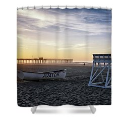 Shower Curtain featuring the photograph Sunrise In Avalon by Eduard Moldoveanu