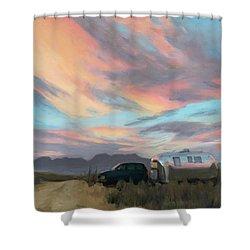 Sunrise In Big Bend Shower Curtain