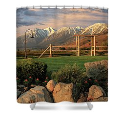 Sunrise In Carson Valley Shower Curtain by James Eddy