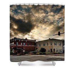 Sunrise In Downtown Murphy North Carolina Shower Curtain