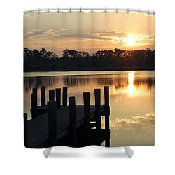 Sunrise In Grayton Beach II Shower Curtain by Robert Meanor