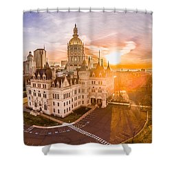 Sunrise In Hartford Connecticut Shower Curtain by Petr Hejl