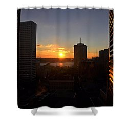 Sunrise In New Orleans Shower Curtain