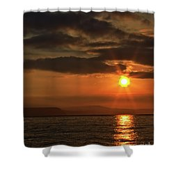 Shower Curtain featuring the photograph Sunrise In Portland by Baggieoldboy