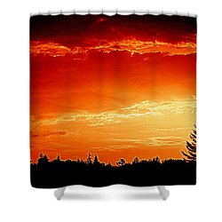 Sunrise In Southport Maine Shower Curtain