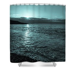 Sunrise In Stonehaven B-w Shower Curtain by Sergey Simanovsky