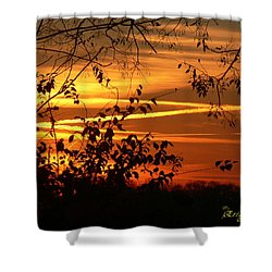Shower Curtain featuring the photograph Sunrise In Tennessee by EricaMaxine  Price