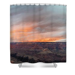 Sunrise In The Canyon Shower Curtain