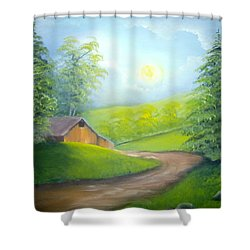 Sunrise In The Country Shower Curtain