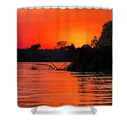 Sunrise In The Pantal Shower Curtain
