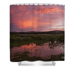 Sunrise In The Wichita Mountains Shower Curtain by Iris Greenwell