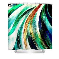 Sunrise In Water Fall Shower Curtain