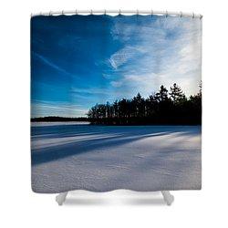 Sunrise In Winter Shower Curtain