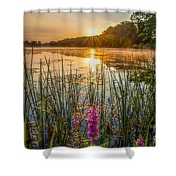 Sunrise Kent Lake Shower Curtain