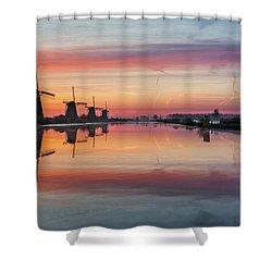 Sunrise Kinderdijk Shower Curtain