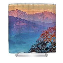 Sunrise Light On Mt. Diablo Shower Curtain