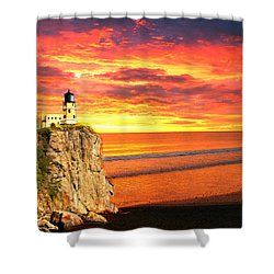 Shower Curtain featuring the photograph Sunrise Lighthouse by Marty Koch