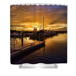 Sunrise Marina Shower Curtain