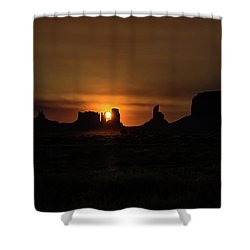 Sunrise Monument Valley Shower Curtain