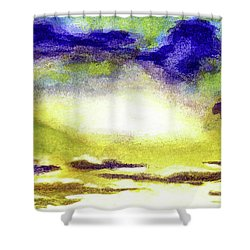 Sunrise Morning Bliss Painting A1 Shower Curtain