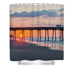 Sunrise Ocean City Fishing Pier Shower Curtain