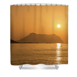 Sunrise On A Beach In Aguilas, Murcia Shower Curtain