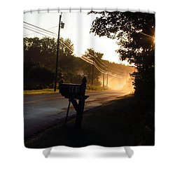Sunrise On A Country Road Shower Curtain