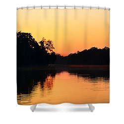 Sunrise On A Lake Shower Curtain